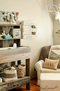 beautiful rustic nursery