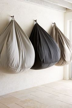 """Who doesnt love a bean bag to relax in......but they take up so much room when not in use......space permitting, why not add some tags and """"hang"""" them out of the wAY.      Eco Outdoor - Weekender"""
