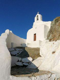 Naxos, white little church