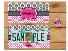 Quatrefoil License Plate Tag Autotag Monogram by totebags4lesscom