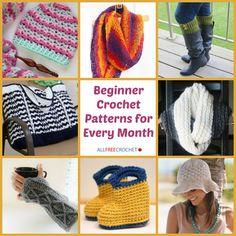 Beginner Crochet Patterns For Every Month - Free Crochet Patterns - (stitchandunwind)
