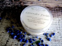 Body Butter travel size Organic skin care All Natural Essential Oils LAVENDER FIELDS. $7.00, via Etsy.