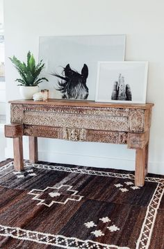 horse print, southwestern vibe, plants, candles, not the table