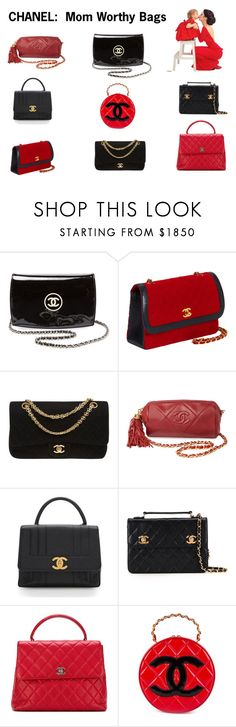 """""""CHANEL:  Mom Worthy Bags"""" by scolab ❤ liked on Polyvore featuring Chanel"""