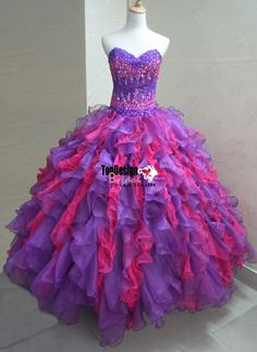 Wholesale 2017 Sweet 15 Dress Sweet 16 Party Quinceanera Dresses New Arrival Mixed Color Prom Dresses