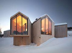 Горный дом из дерева в Норвегии