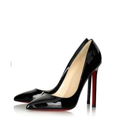 d11972c2fb9 Black Thin Heel Pointed Women s Pumps High Heels Red Bottom Vintage Sexy  Shoes for Women