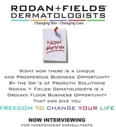 Ask me details on joining me in business with Rodan + Fields  www.emiddlebrooks.myrandf.biz Want more info: email me at elainep@windstream.net or add me on Facebook with the message Rodan + Fields
