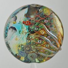 Lampwork Aquarium Bead with Clownfish & by SilverSageCreations, $50.00