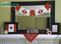 Canada Day Mantel