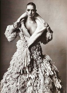 balenciaga by irving penn    vogue march 2006