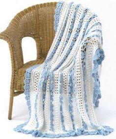 Lacy Eyelet Crochet Blanket Pattern http://www.allfreecrochetafghanpatterns.com/Lace/Lacy-Eyelet-Crochet-Blanket-Pattern-from-Caron-Yarns