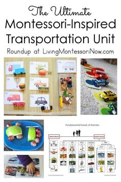 Montessori-inspired transportation unit with printables and activities for toddlers through elementary-age children; perfect for classroom or home - Living Montessori Now #transportation #Montessori #homeschool #preschool