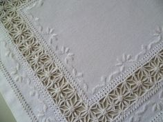 Reticella Embroidery (corner of mat) ~ by Carmelina Lopez A. on Google+