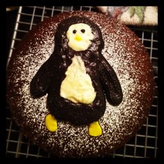 The cake I made for my boyfriends birthday last year. Surprise Birthday, Birthday Parties, Penguin Cakes, Cupcake Cakes, Cupcakes, Boyfriend Birthday, Roommates, Theta, Cake Creations