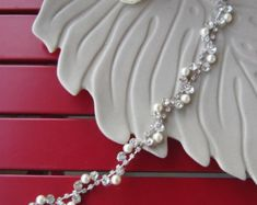 Bridal belt wedding dress belt Bridal pearl and by PRIVATEBRIDES