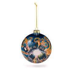 Hand Painted Starry Night Ornament   ThinkGeek