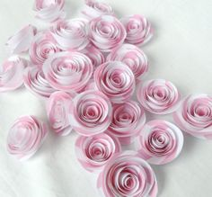 Pink roses. Set of 25 paper roses. Wedding flowers. by kC2Designs, $15.00