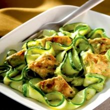 Recipe: Bob Harper's Zucchini Noodles with Avocado Cream Sauce (with chicken) - Recipelink.com