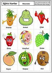 Okul öncesi Meyveler eğitici kartları Learn Turkish, Turkish Language, Kindergarten Reading, Home Schooling, Diy Toys, Primary School, Graffiti Art, Activities For Kids, Preschool