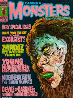 Famous Monsters rag, 1974  Exorcist
