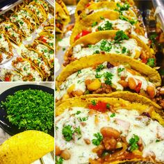 Taco's with Chili and Greek Yogurt Sauce