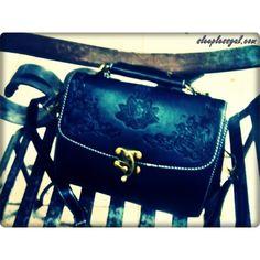 OASAP - Vintage Flower Embossed Shoulder Bag with Hook and Eye... via Polyvore