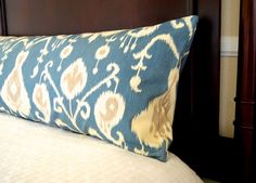 Pillow Cover Blue Ikat 20 x 54 Decorative Throw Pillow Cover Body Pillowcase Bolster Pillow Dorm Decor Body Pillow Cover Blue Ikat 20 x 54 Decorative by FestiveHome. Ikat Pillows, Large Pillows, Bolster Pillow, Pillow Cases, Blue Pillow Covers, Pillow Cover Design, Bed Covers, Body Pillow Anime