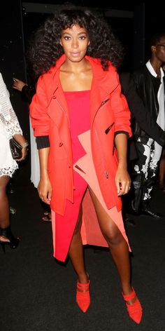 See the Celebrities Who Sat Front Row at Spring/Summer 2016 Fashion Shows - Solange Knowles - from InStyle.com