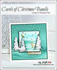 Carols of Christmas Bundle and Embossing Paste Trees card by Sandi @ stampinwithsandi.com