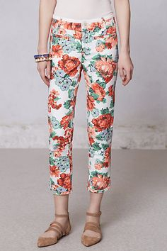 My next paycheck...love my employee discount ;) <3 Tapestry Floral Charlie Trousers #anthropologie