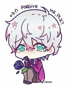 Image about anime in Mystic messenger 📱💓 by ∂αηyα✿د Mystic Messenger Unknown, Mystic Messenger Game, Messenger Games, Mystic Messenger Fanart, Chibi, Jumin X Mc, Saeran Choi, Jumin Han, Diabolik Lovers