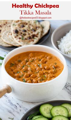 Here's Restaurant Style Healthy Chickpea Tikka Masala Chickpea Tikka Masala Recipe, Best Vegan Recipes, Lunches And Dinners, Chana Masala, Vegan Gluten Free, Dinner Recipes, Vegetarian, Restaurant, Recipes