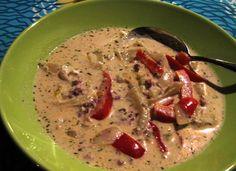 Soup made of smoked reindeer