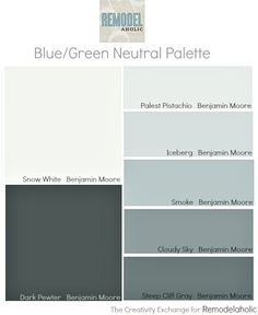 Easy paint color strategy for the whole home. How to work off of one paint card. Easy paint color strategy for the whole home. How to work off of one paint card {Remodelaholic} White Paint Colors, Favorite Paint Colors, White Paints, Wall Colors, House Colors, Gray Paint, Neutral Paint, Gray Color, Interior Paint Colors For Living Room