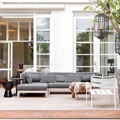 Exclusieve lounge tuinmeubelen van teak en riet | Royal Design
