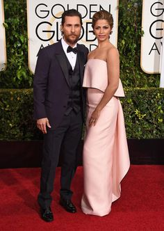 Golden Globes 2015 Red Carpet Arrivals | Matthew McConaughey ('True Detective') and Camila Alves