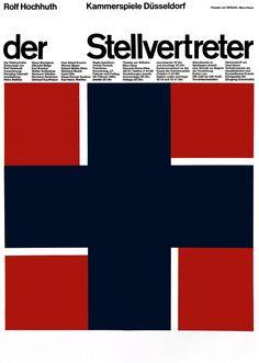 Edelmann (Heinz, DE) um 1965 Der Stellvertreter (Kammerspiele Düsseldorf) Plakat A1   Flickr - Photo Sharing!