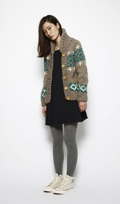 ...great Cowichan cardigan...