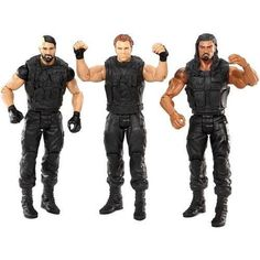 WWE THE SHIELD: Seth Rollins, Roman Reigns, Dean Ambrose Exclusive 3 Pack Listing in the WWE,Wrestling,Sports,Action Figures,Toys & Hobbies Category on eBid United States | 150342786