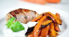 Roasted chicken, root vegetables and basil yogurt. Kost - Min träning | SATS