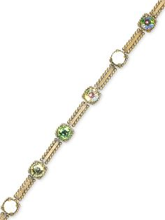 Large Crystal Square and Ball Chain Bracelet in Green Apple by Sorrelli - $82.50 (http://www.sorrelli.com/products/BBX16AGGA)