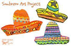sombrero-art-project. Mexican culture. Pattern. Line. Color.