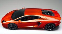 Lamborghini Aventador in orange on hd wallpapers from www.HotSzots.eu