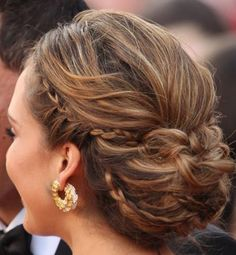 More Jessica Alba. Love the braids and the way the bun is done, just move it up a bit higher and I'm happy