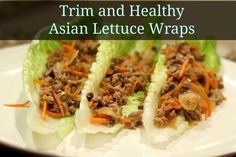 Trim and Healthy Asian Lettuce Wraps - Grassfed Mama