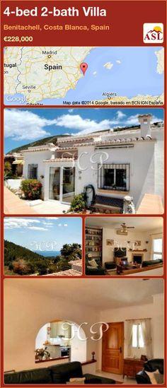 4-bed 2-bath Villa in Benitachell, Costa Blanca, Spain ►€228,000 #PropertyForSaleInSpain