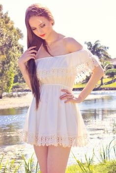 White Off The Shoulder Fringe Dress// Fringe Dress, Boho Dress, White Off Shoulder, I Love Fashion, Clothes, Dresses, Style, Outfits, Vestidos