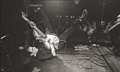 Fugazi, Irving Plaza, New York, 1995; Photograph: Glen E Friedman