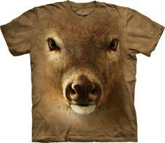 Camisetas com estampa de rostos de animais